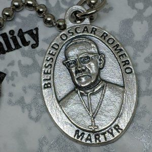 Jewelry - Blessed Oscar Romero Religious Medal Necklace